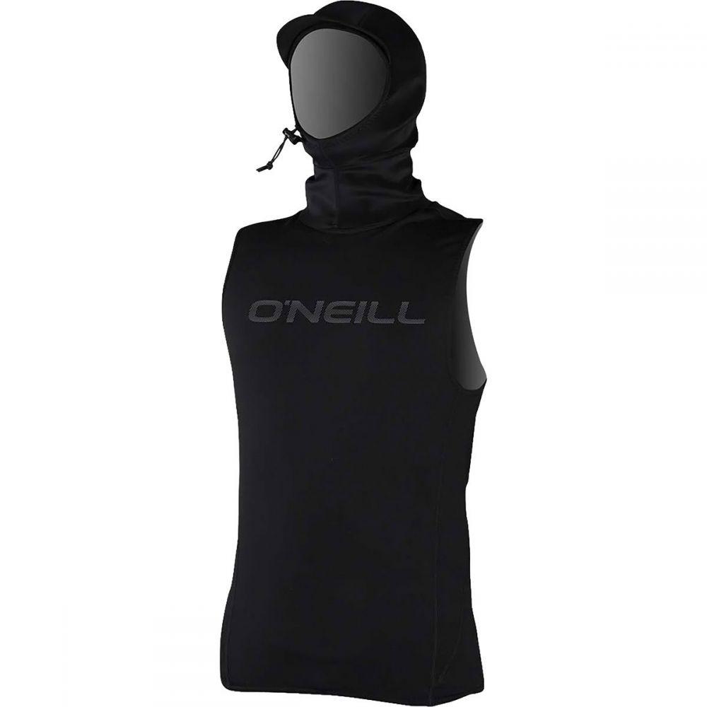 オニール O'Neill メンズ 水着・ビーチウェア ラッシュガード【Thermo - X Vest with Neo Hoods】Black