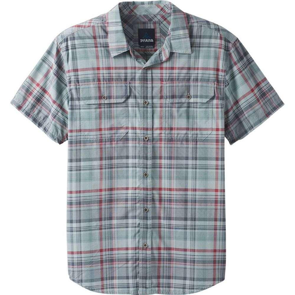 プラーナ Prana メンズ トップス 半袖シャツ【Cayman Plaid Short-Sleeve Shirts】Agave
