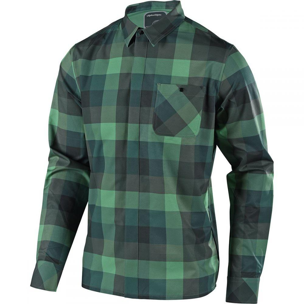 トロイリーデザイン Troy Green Lee Designs Designs メンズ 自転車 トップス【Grind Troy Flannel Long-Sleeve Jerseys】Plaid Green, マイスキップ:e8b1f593 --- acessoverde.com