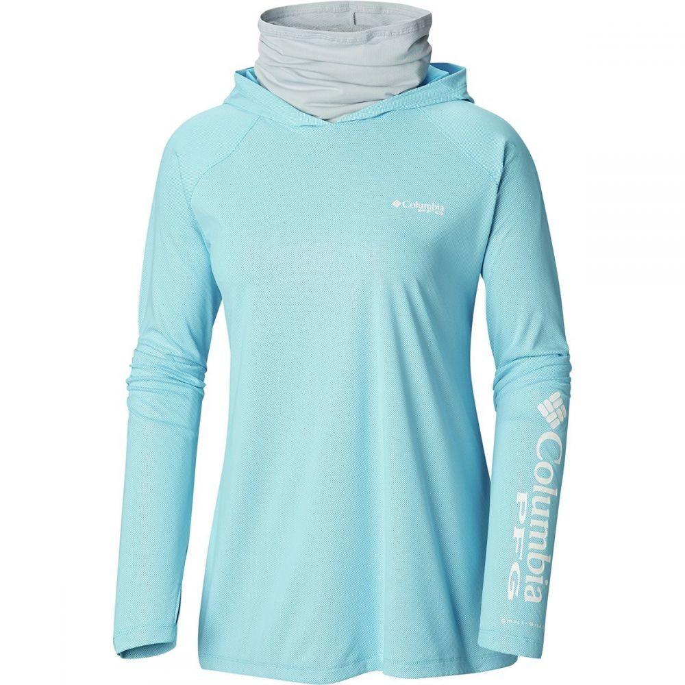 コロンビア Columbia レディース 釣り・フィッシング トップス【Tidal Deflector Zero Hooded Shirt】Riptide/Cirrus Grey