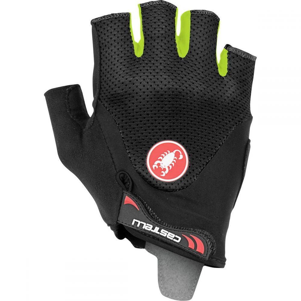 カステリ Castelli メンズ 自転車 グローブ【Arenberg Gel 2 Gloves】Balck/Yellow Fluo