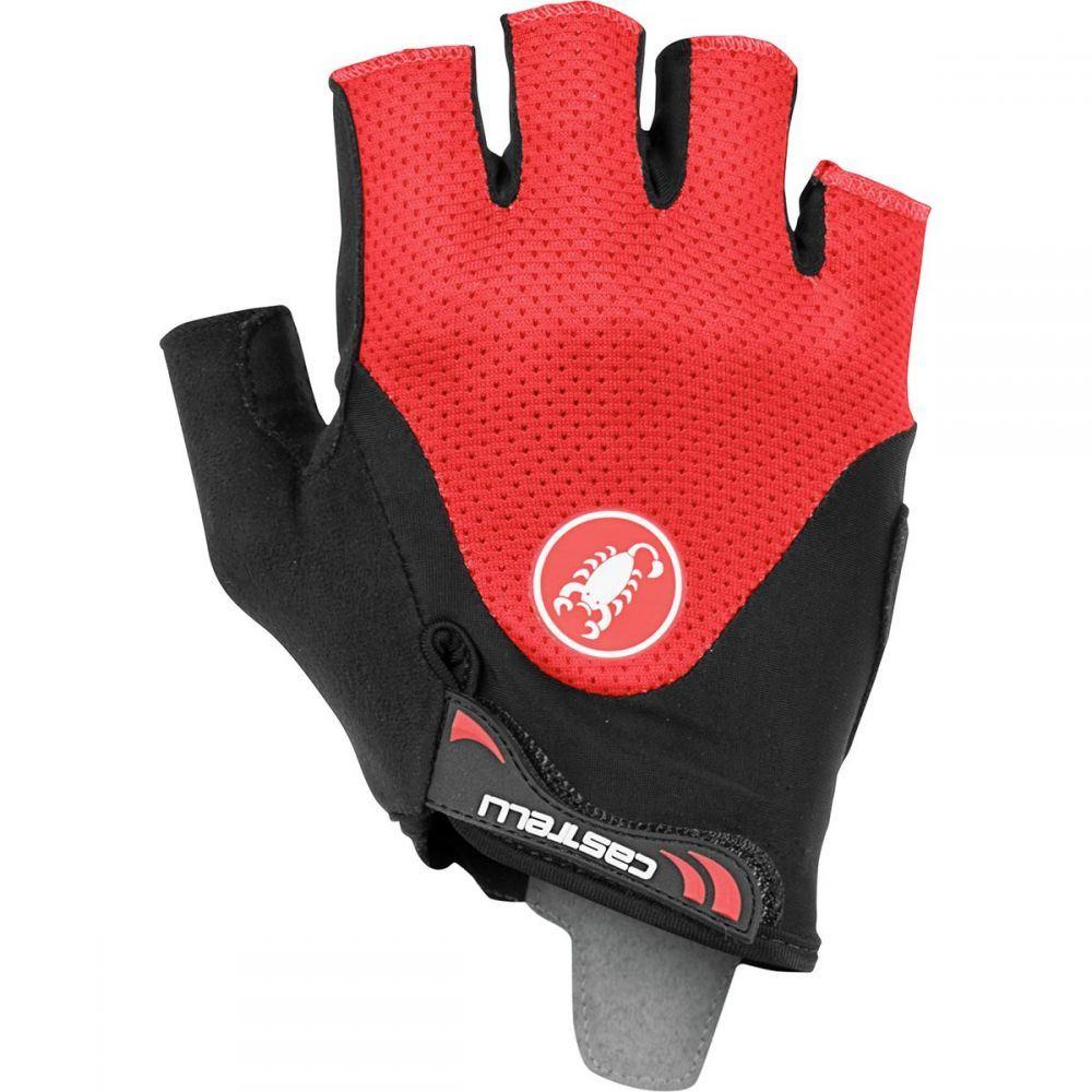 カステリ Castelli メンズ 自転車 グローブ【Arenberg Gel 2 Gloves】Black/Red