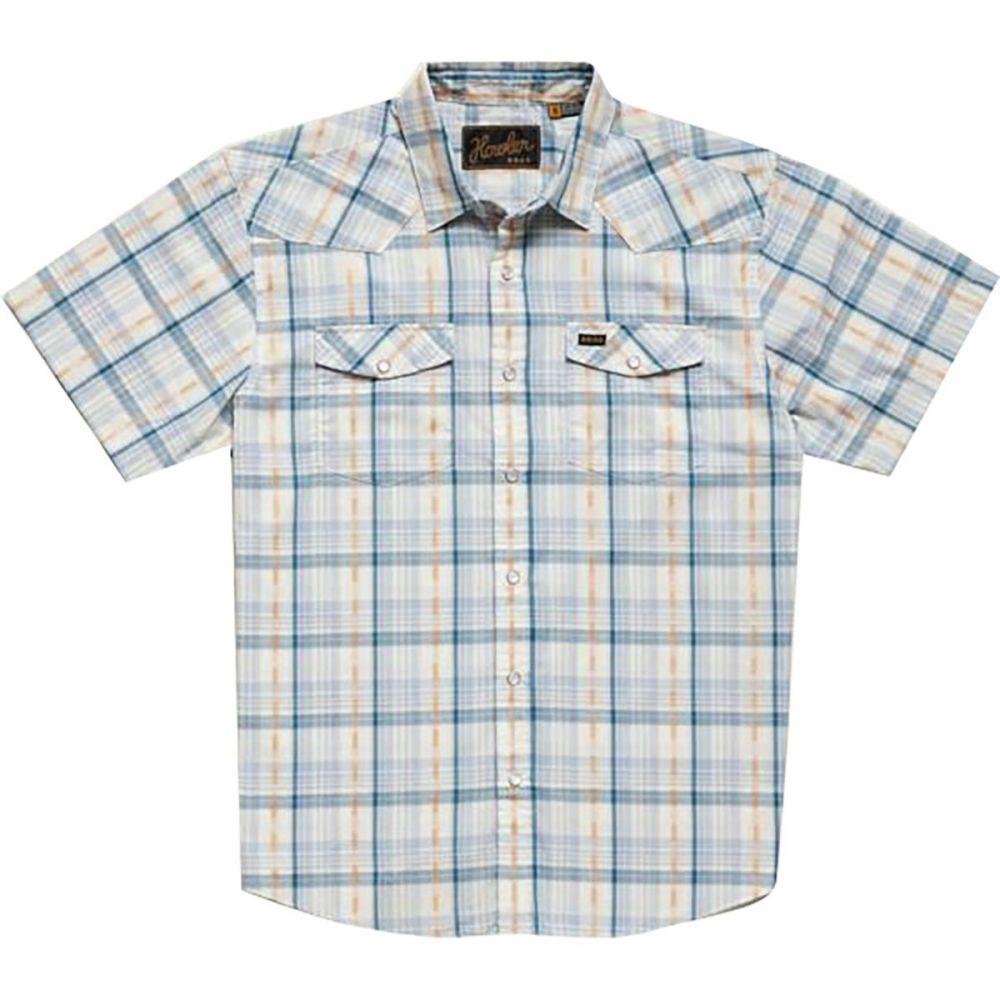 ホウラーブラザーズ Howler Brothers メンズ トップス 半袖シャツ【H Bar B Snap Shirts】Brooks Plaid:Creamy Blue