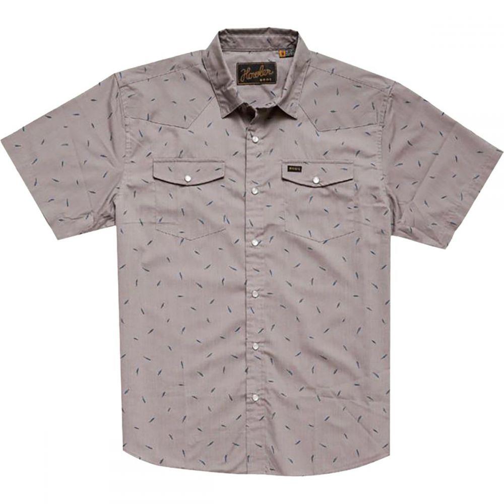 ホウラーブラザーズ Howler Brothers メンズ トップス 半袖シャツ【H Bar B Snap Shirts】Falling Feathers Print:Dove Grey