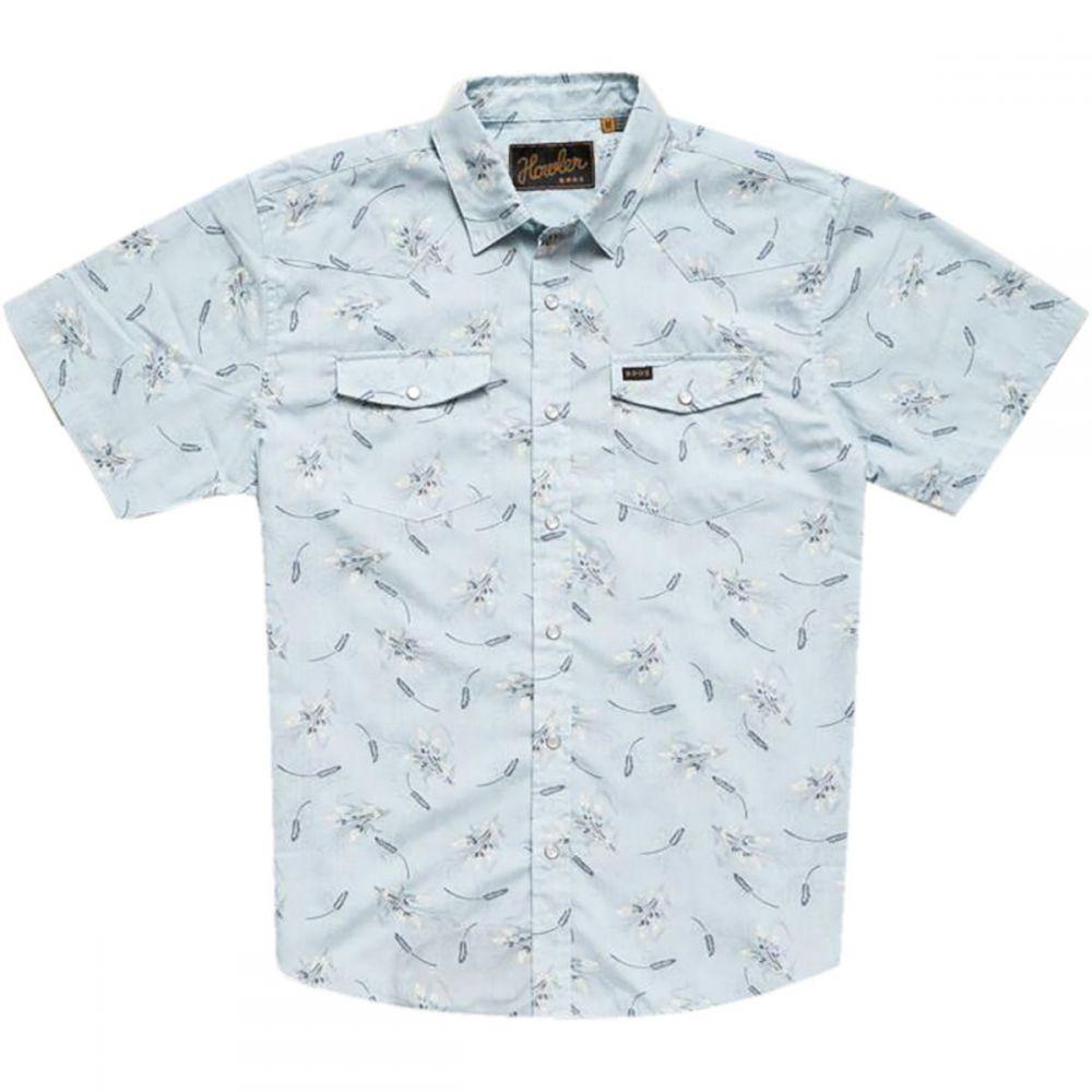 ホウラーブラザーズ Howler Brothers メンズ トップス 半袖シャツ【H Bar B Snap Shirts】Grainfields Print:Shower Blue