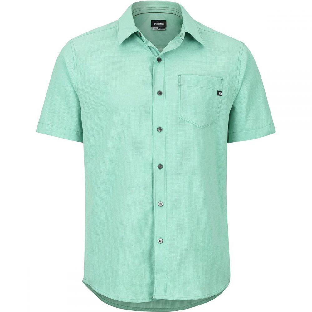 マーモット Marmot メンズ トップス 半袖シャツ【Aerobora Short-Sleeve Shirts】Pond Green