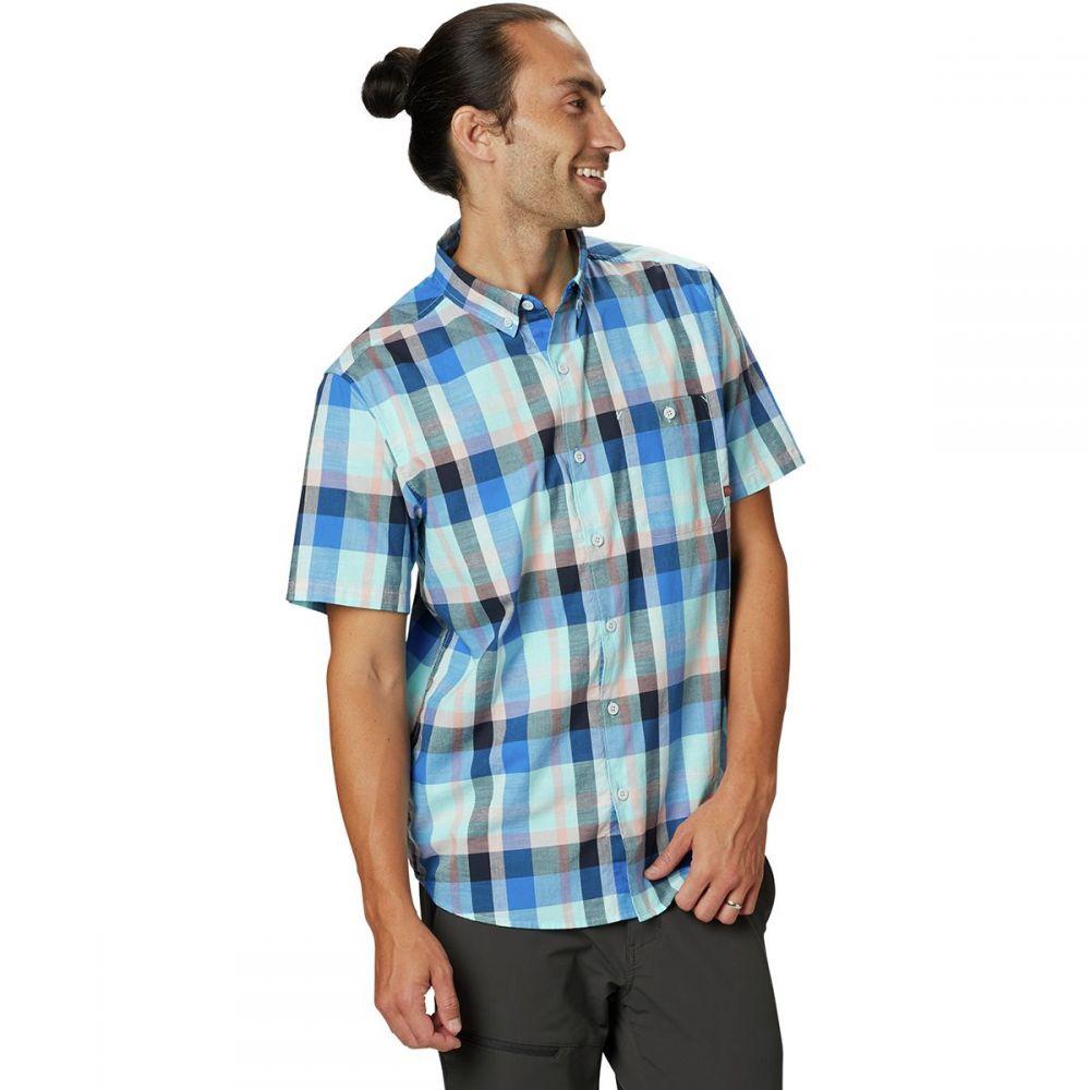 マウンテンハードウェア Mountain Hardwear メンズ トップス 半袖シャツ【Big Cottonwood Short-Sleeve Shirts】Altitude Blue