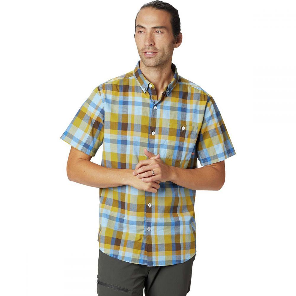 マウンテンハードウェア Mountain Hardwear メンズ トップス 半袖シャツ【Big Cottonwood Short-Sleeve Shirts】Dark Citron