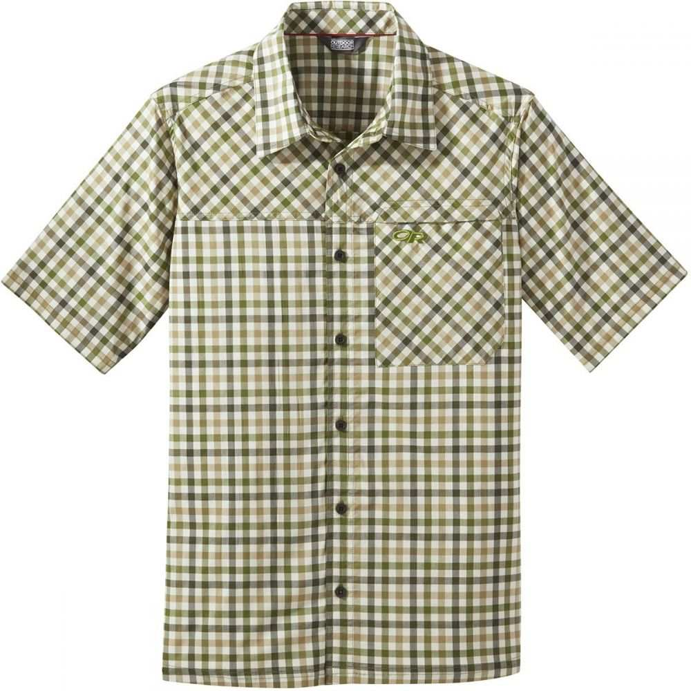 アウトドアリサーチ Outdoor Research メンズ トップス 半袖シャツ【Discovery Short-Sleeve Shirts】Seaweed Plaid
