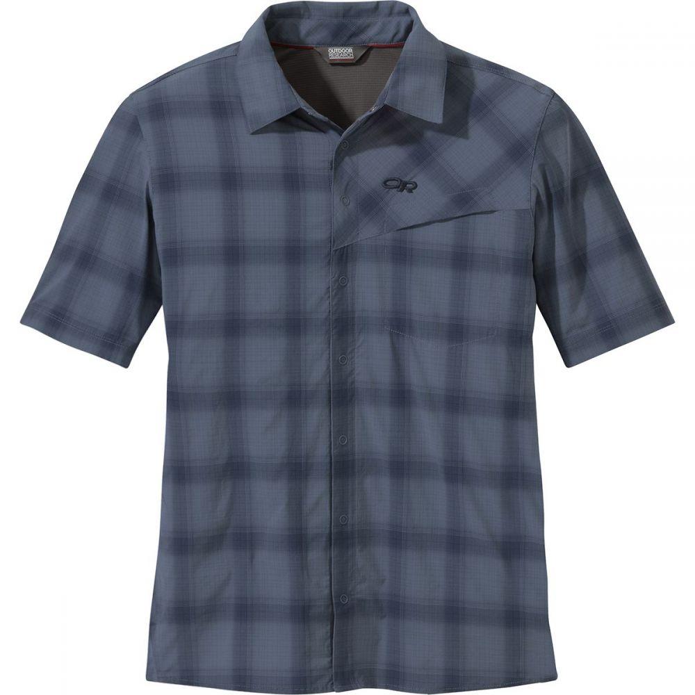 アウトドアリサーチ Outdoor Research メンズ トップス 半袖シャツ【Astroman Short-Sleeve Sun Shirts】Steel Blue