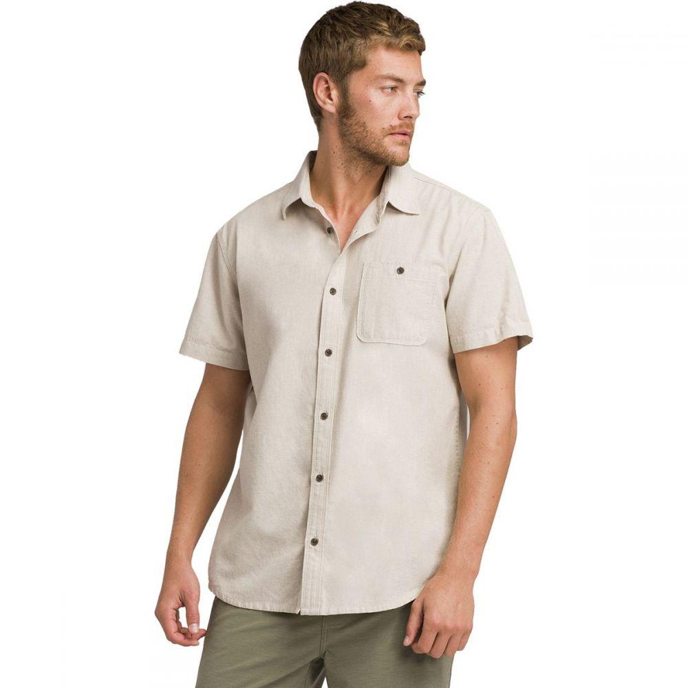 プラーナ Prana メンズ トップス 半袖シャツ【Jaffra Short-Sleeve Shirts】Dark Khaki