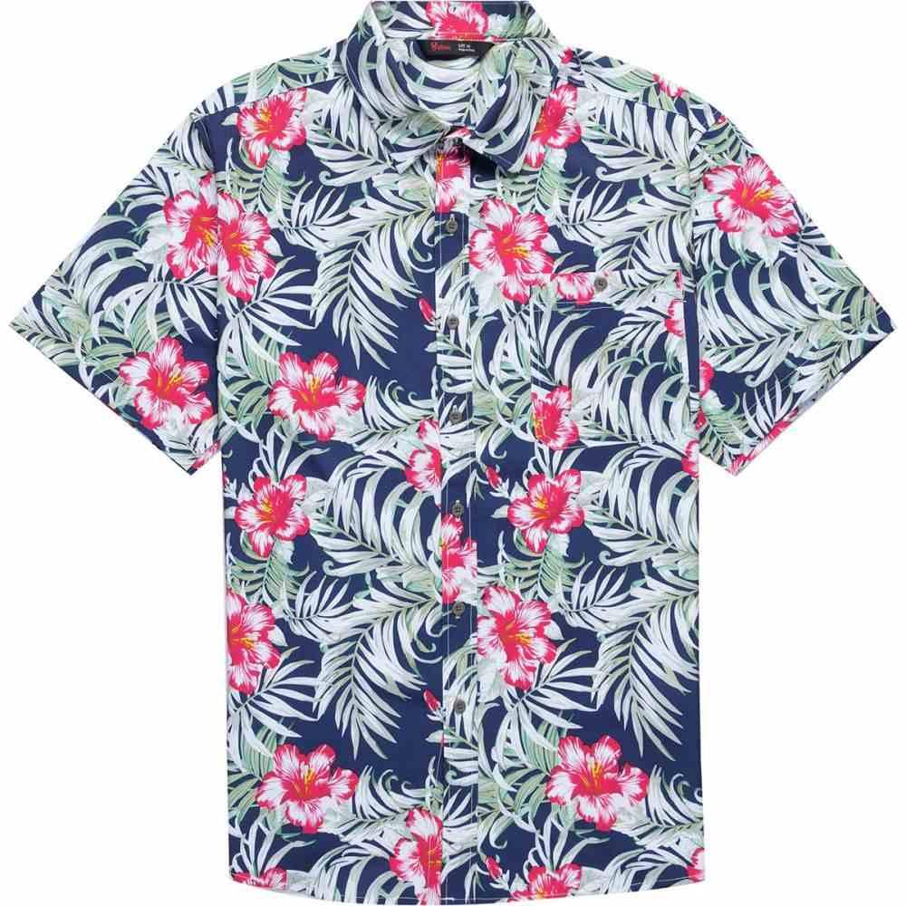 ストイック Stoic メンズ トップス 半袖シャツ【Hawaiian Fishing Shirts】Navy