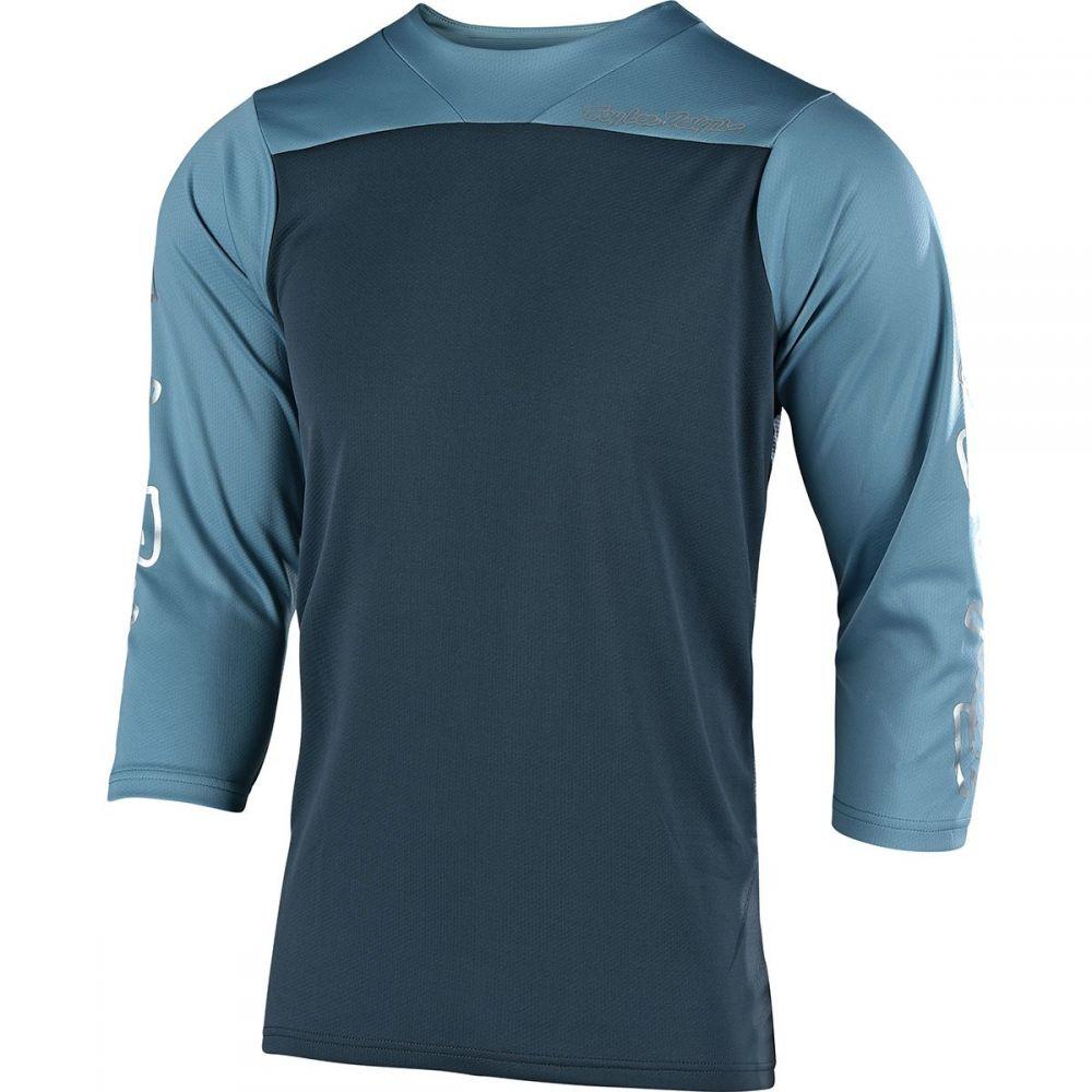 トロイリーデザイン Troy Lee Designs メンズ 自転車 トップス【Ruckus Jerseys】Block Charcoal/Stone Blue