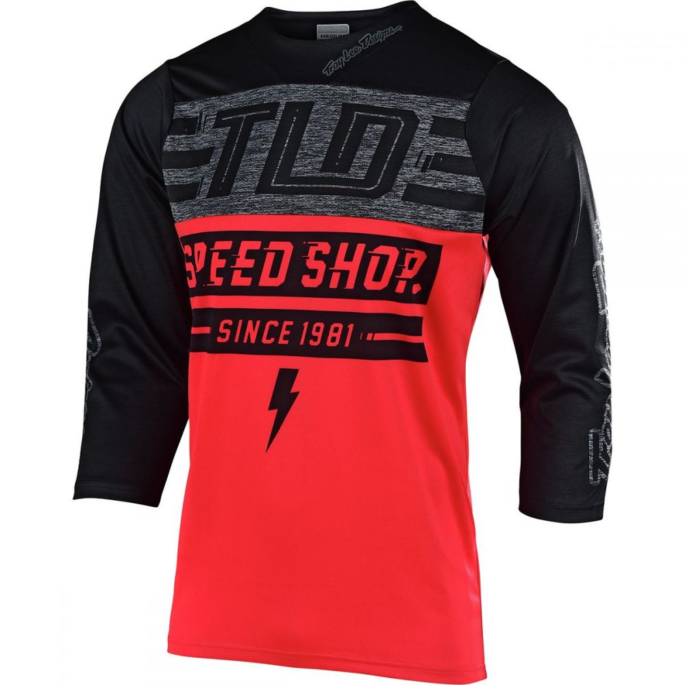 トロイリーデザイン Troy Lee Designs メンズ 自転車 トップス【Ruckus Jerseys】Bolt Red/Black