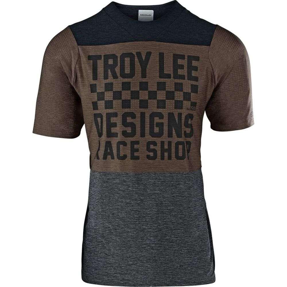 トロイリーデザイン Troy Lee Designs メンズ 自転車 トップス【Skyline Air Jerseys】Checker Heather Black/Heather Light Moka