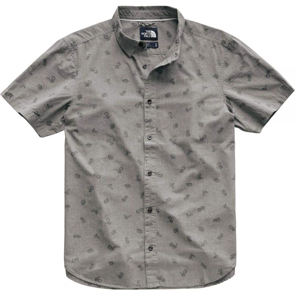 ザ ノースフェイス The North Face メンズ トップス 半袖シャツ【Baytrail Shirts】Tnf Medium Grey Heather Snakes On A Plain Print