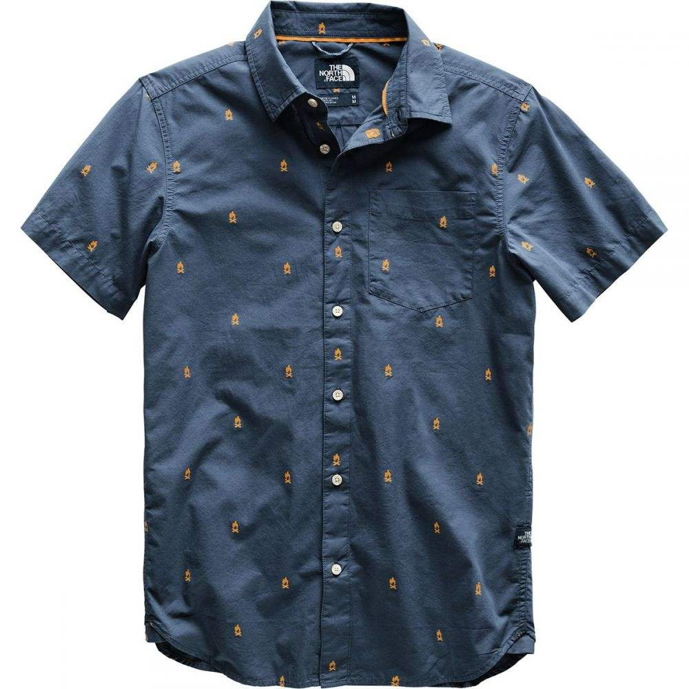 ザ ノースフェイス The North Face メンズ トップス 半袖シャツ【Baytrail Jacquard Shirts】Shady Blue Campfire Jacquard