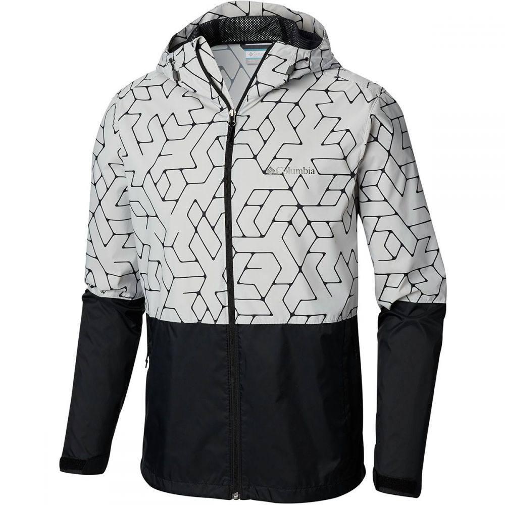 コロンビア Columbia メンズ アウター レインコート【Roan Mountain Jackets】Cool Grey Maze Geolines Print/Black