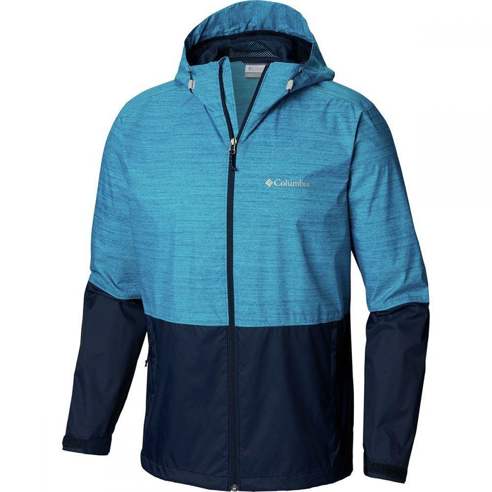 コロンビア Columbia メンズ アウター レインコート【Roan Mountain Jackets】Modern Turq Texture Print/Coll Navy