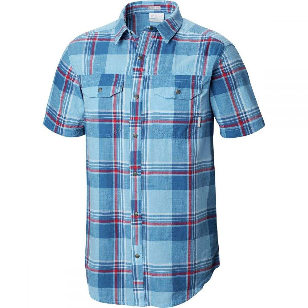 コロンビア Columbia メンズ トップス 半袖シャツ【Leadville Ridge Yarn Dye Short-Sleeve Shirts】Impulse Blue Big Check