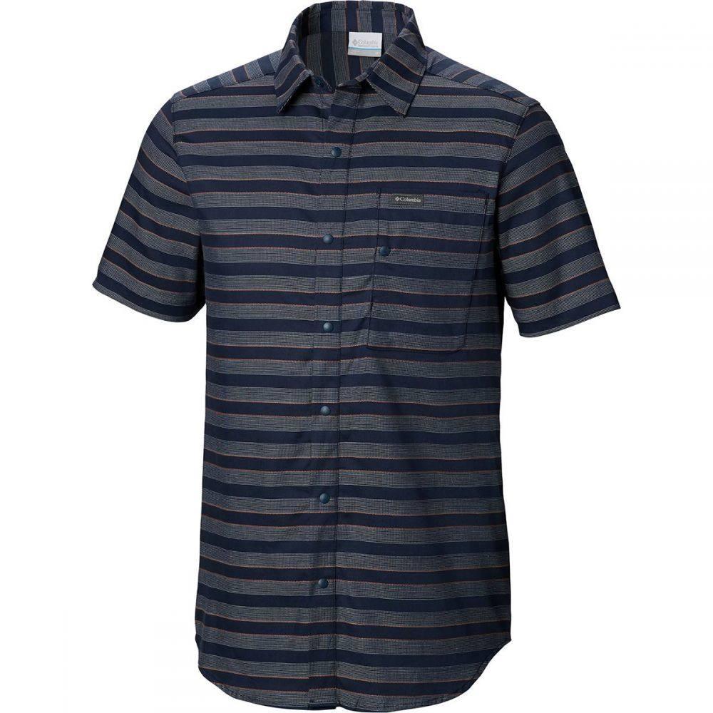 コロンビア Columbia メンズ トップス 半袖シャツ【Shoals Point Short-Sleeve Shirts】Collegiate Navy Stripe