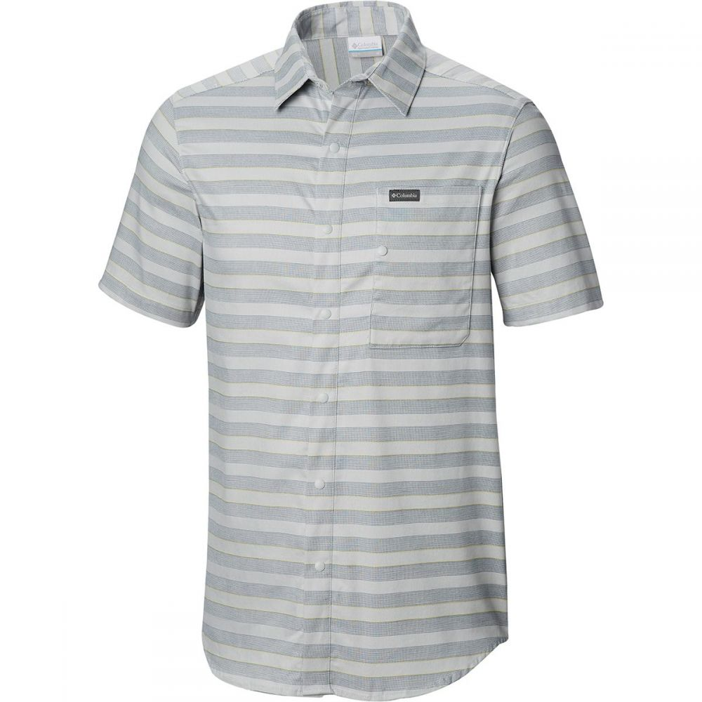 コロンビア Columbia メンズ トップス 半袖シャツ【Shoals Point Short-Sleeve Shirts】Cool Grey Stripe