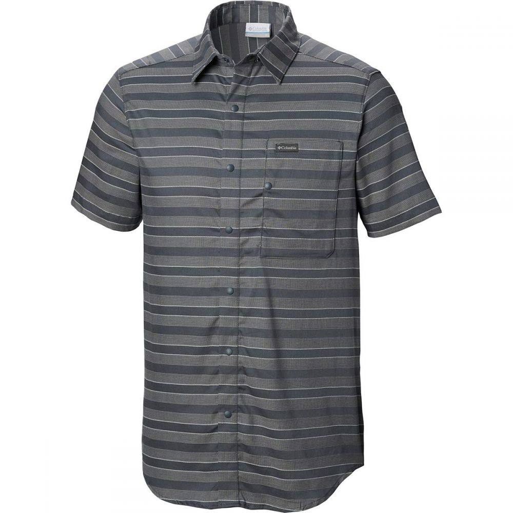 コロンビア Columbia メンズ トップス 半袖シャツ【Shoals Point Short-Sleeve Shirts】Graphite Stripe