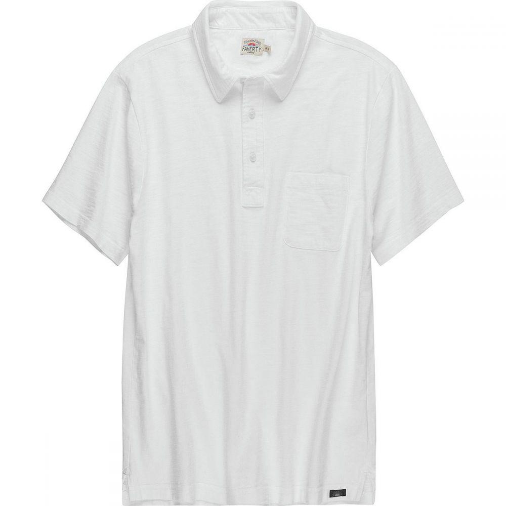ファレティ Faherty メンズ トップス ポロシャツ【Sunwashed Polo Shirts】White