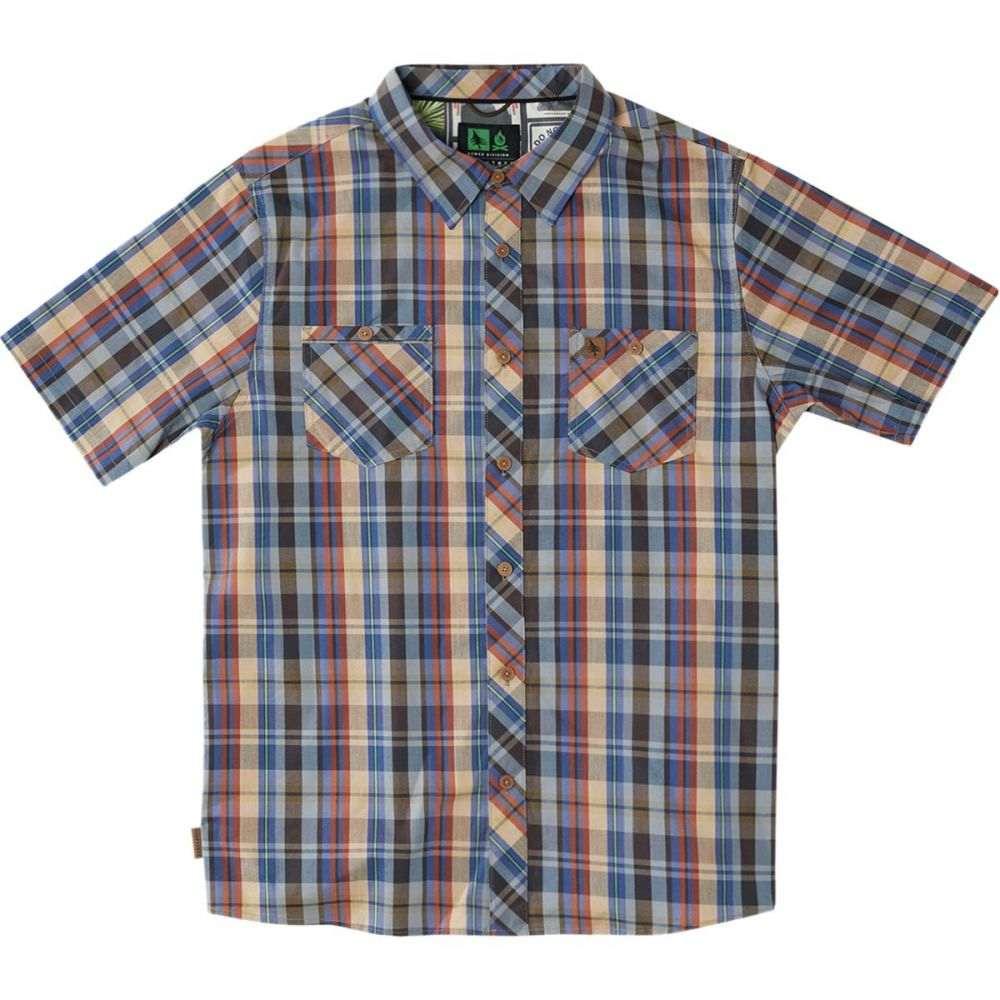 ヒッピーツリー Hippy Tree メンズ トップス 半袖シャツ【Rochester Woven Shirts】Blue