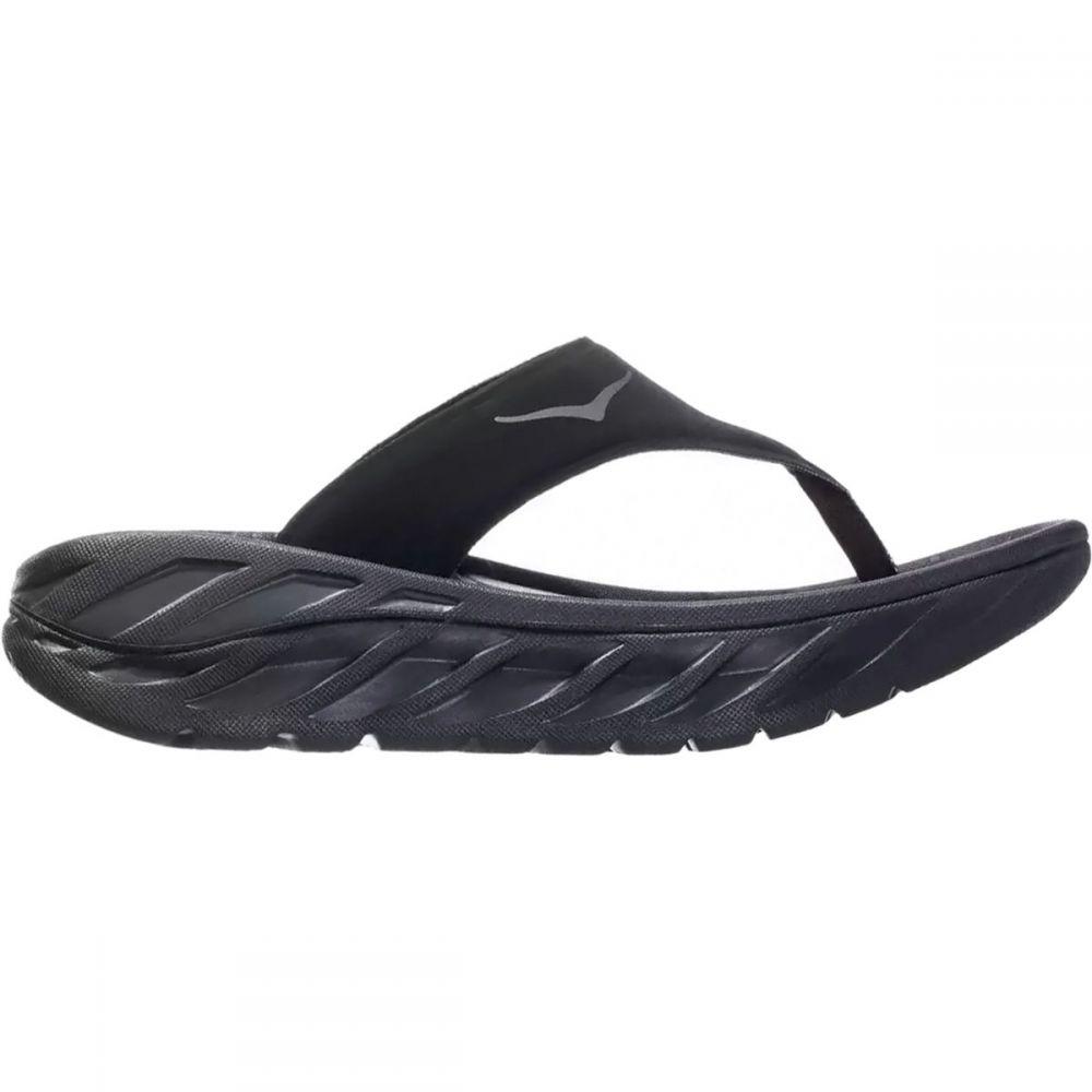 ホカ オネオネ HOKA ONE ONE レディース シューズ・靴 ビーチサンダル【Ora Recovery Flip - Flop】Black/Dark Gull Gray
