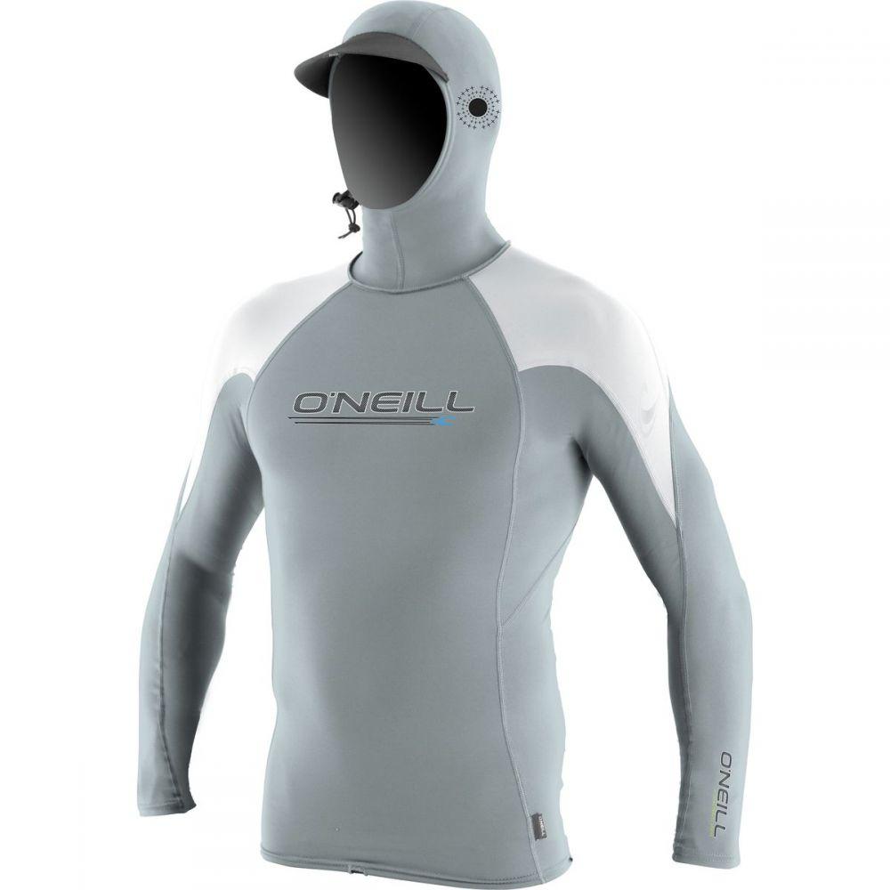 オニール O'Neill メンズ 水着・ビーチウェア ラッシュガード【O'Zone Crew Rashguard with Hoods】Cool Grey/White/White