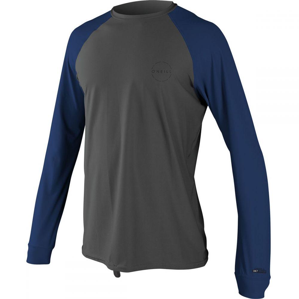 オニール O'Neill メンズ 水着・ビーチウェア ラッシュガード【24 - 7 Traveler Long-Sleeve Sun Shirts】Graphite/Navy