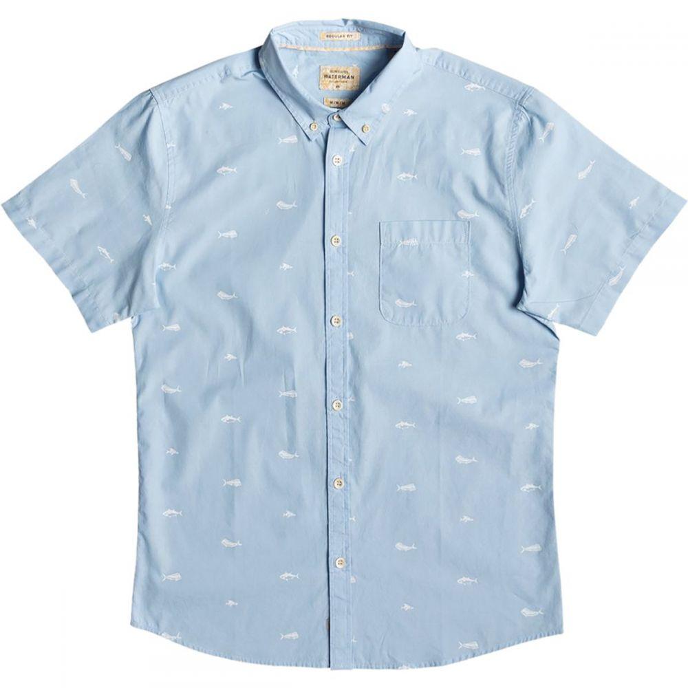 クイックシルバー Quiksilver Waterman メンズ トップス 半袖シャツ【Spun Reel Short-Sleeve Shirts】Cerulean