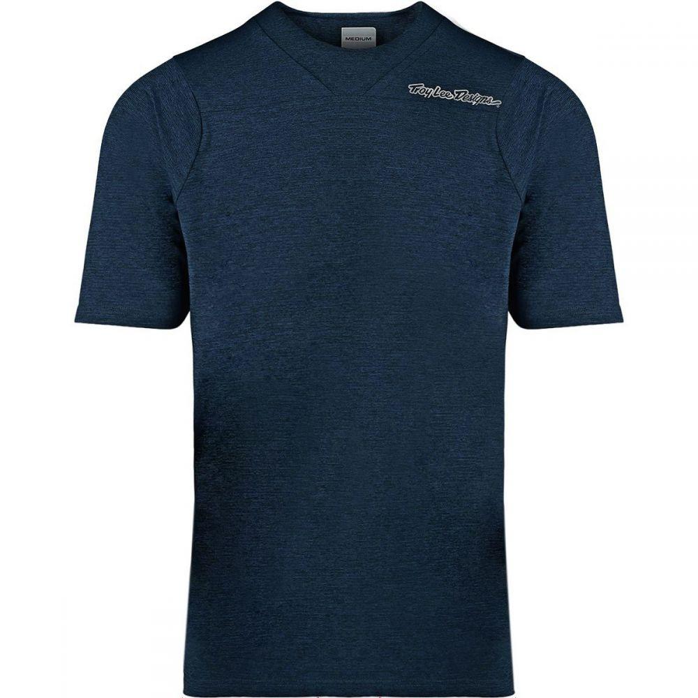 トロイリーデザイン Troy Lee Designs メンズ 自転車 トップス【Skyline Short-Sleeve Jerseys】Solid Dark Heather Navy