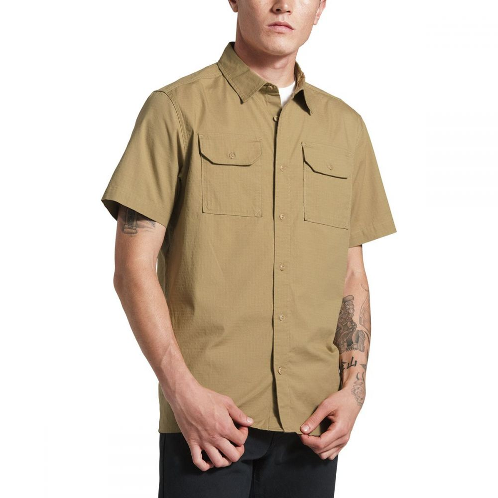 ザ ノースフェイス The North Face メンズ トップス 半袖シャツ【Battlement Shirts】Kelp Tan