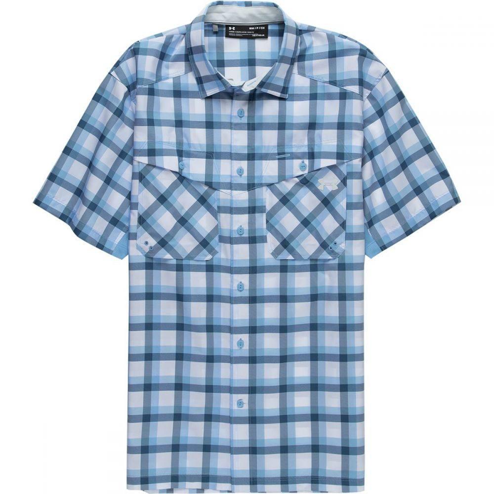 アンダーアーマー Under Armour メンズ トップス 半袖シャツ【Tide Chaser Plaid Short-Sleeve Shirts】Carolina Blue/Elemental