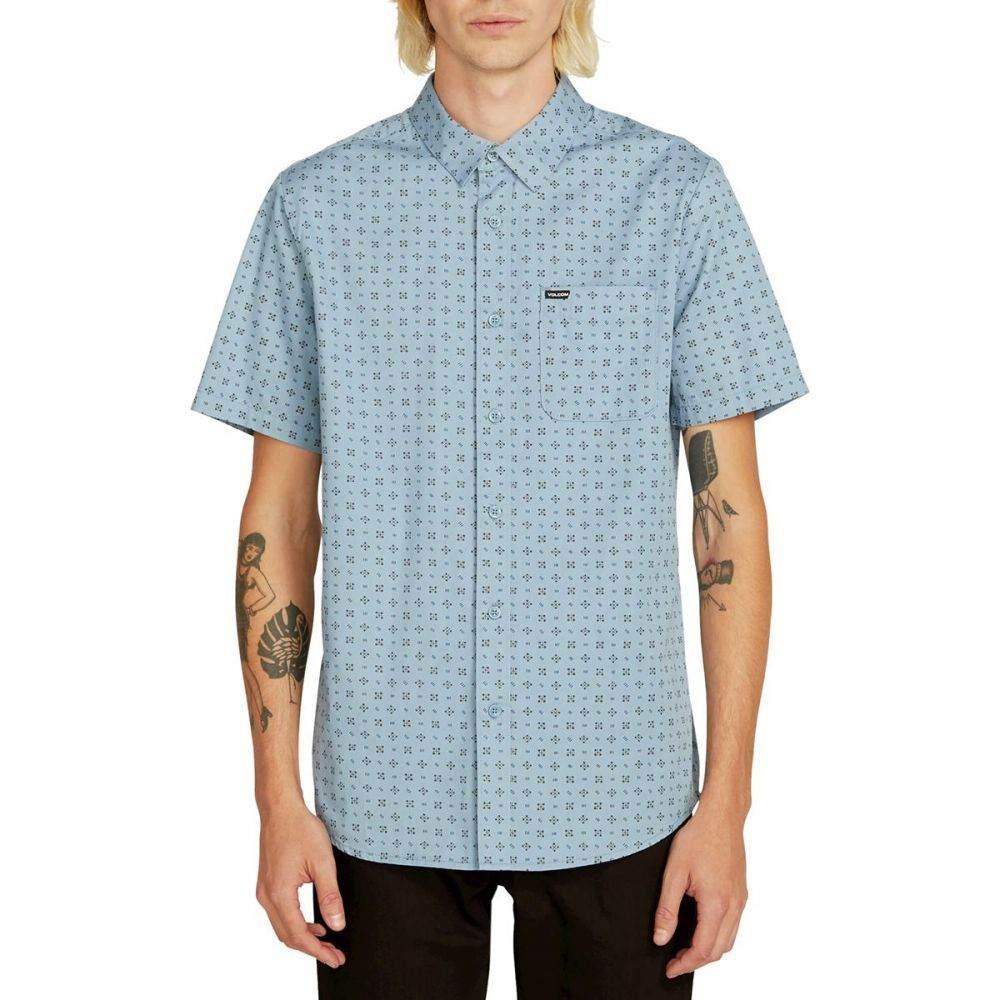 ボルコム Volcom メンズ トップス 半袖シャツ【Salt Dot Shirts】Vintage Blue