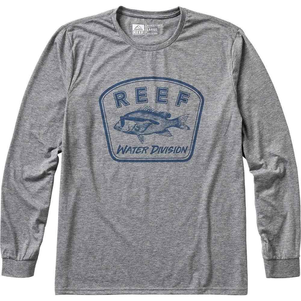 リーフ Reef メンズ 水着・ビーチウェア ラッシュガード【Surfari's Surf Long-Sleeve T-Shirts】Grey/Blue Surf