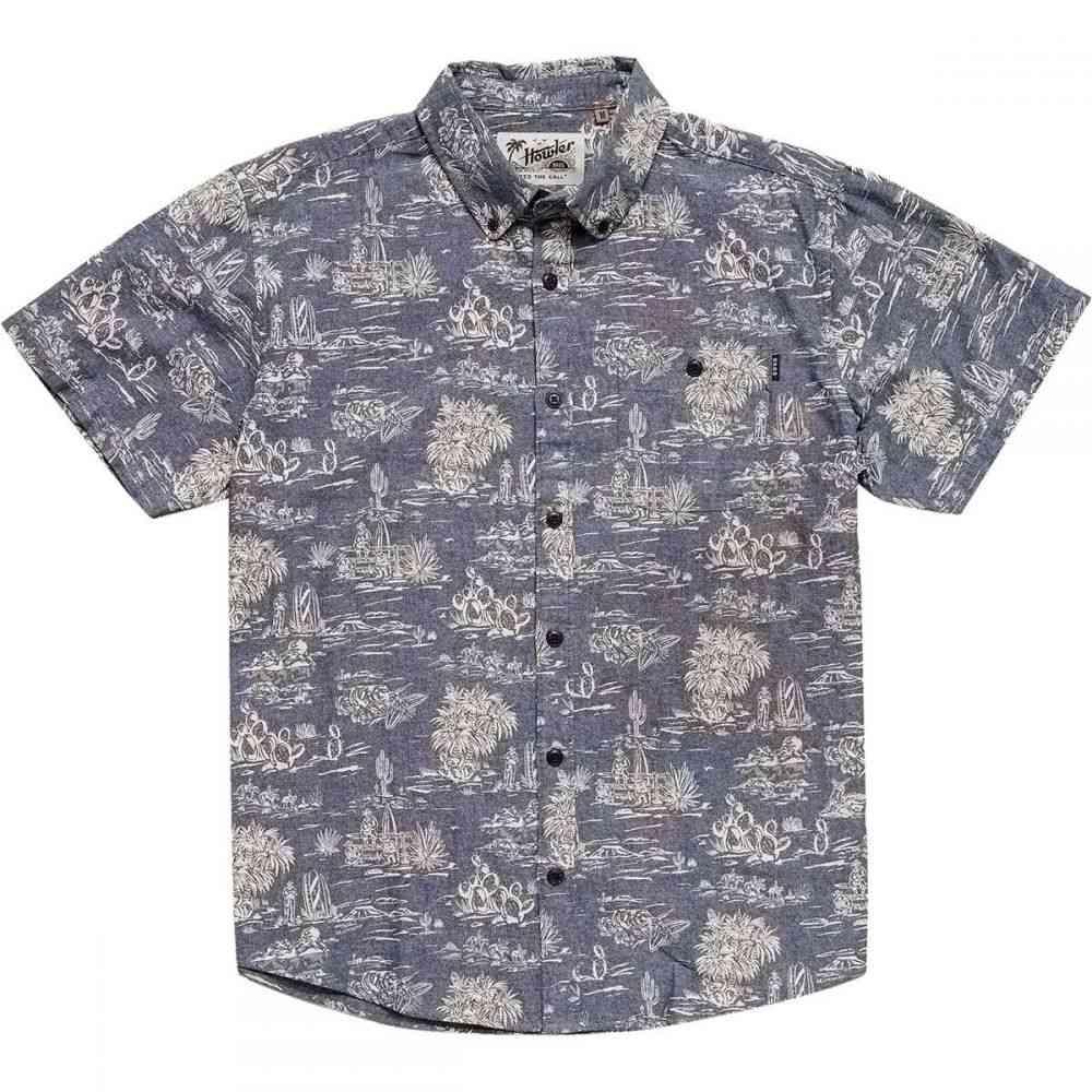 ホウラーブラザーズ Howler Brothers メンズ トップス 半袖シャツ【Mansfield Shirts】Outpost Print: Indigo
