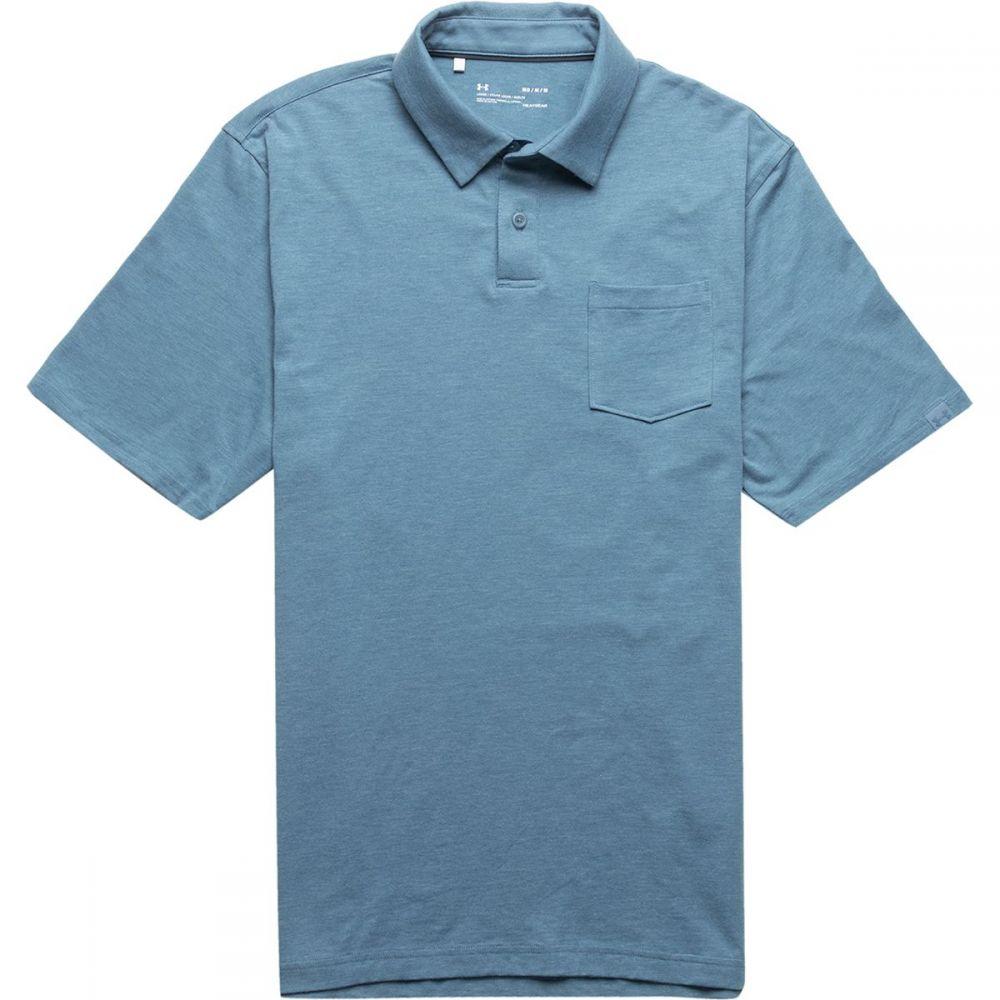 アンダーアーマー Under Armour メンズ トップス ポロシャツ【Charged Cotton Scramble Polo Shirts】Thunder/Thunder Medium Heather/Thunder