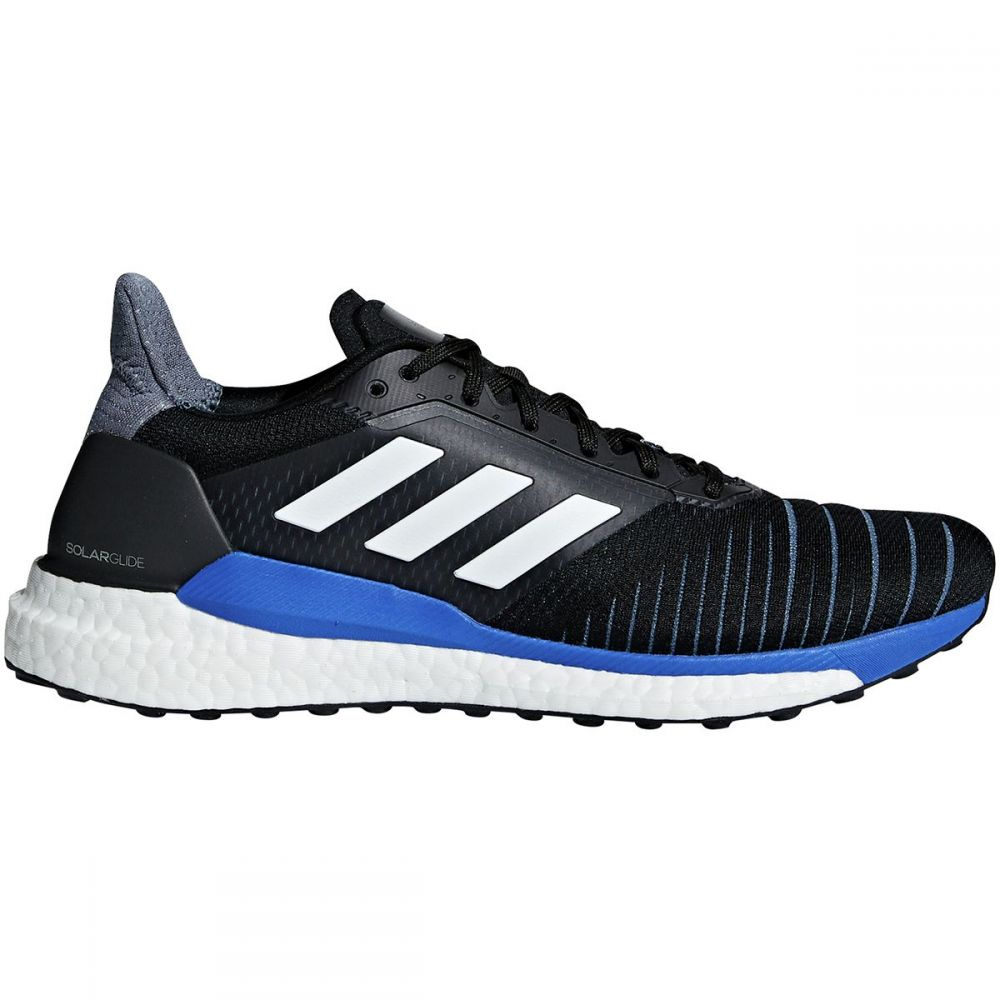 アディダス Adidas メンズ ランニング・ウォーキング シューズ・靴【Solar Glide Boost Running Shoes】Core Black/Ftwr White/Hi-res Blue S18