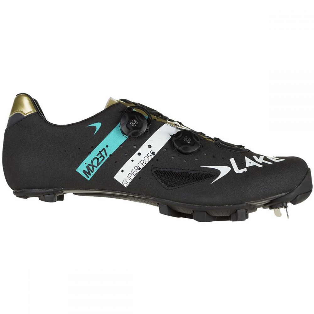 レイク Lake メンズ 自転車 シューズ・靴【MX237 SuperCross Wide Cycling Shoes】Supercross Black/Gold/Blue