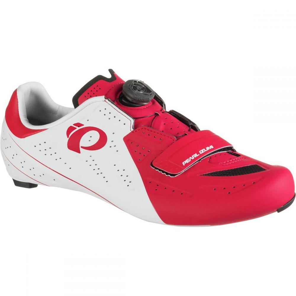 パールイズミ Pearl Izumi メンズ 自転車 シューズ・靴【ELITE Road V5 Cycling Shoes】White/True Red