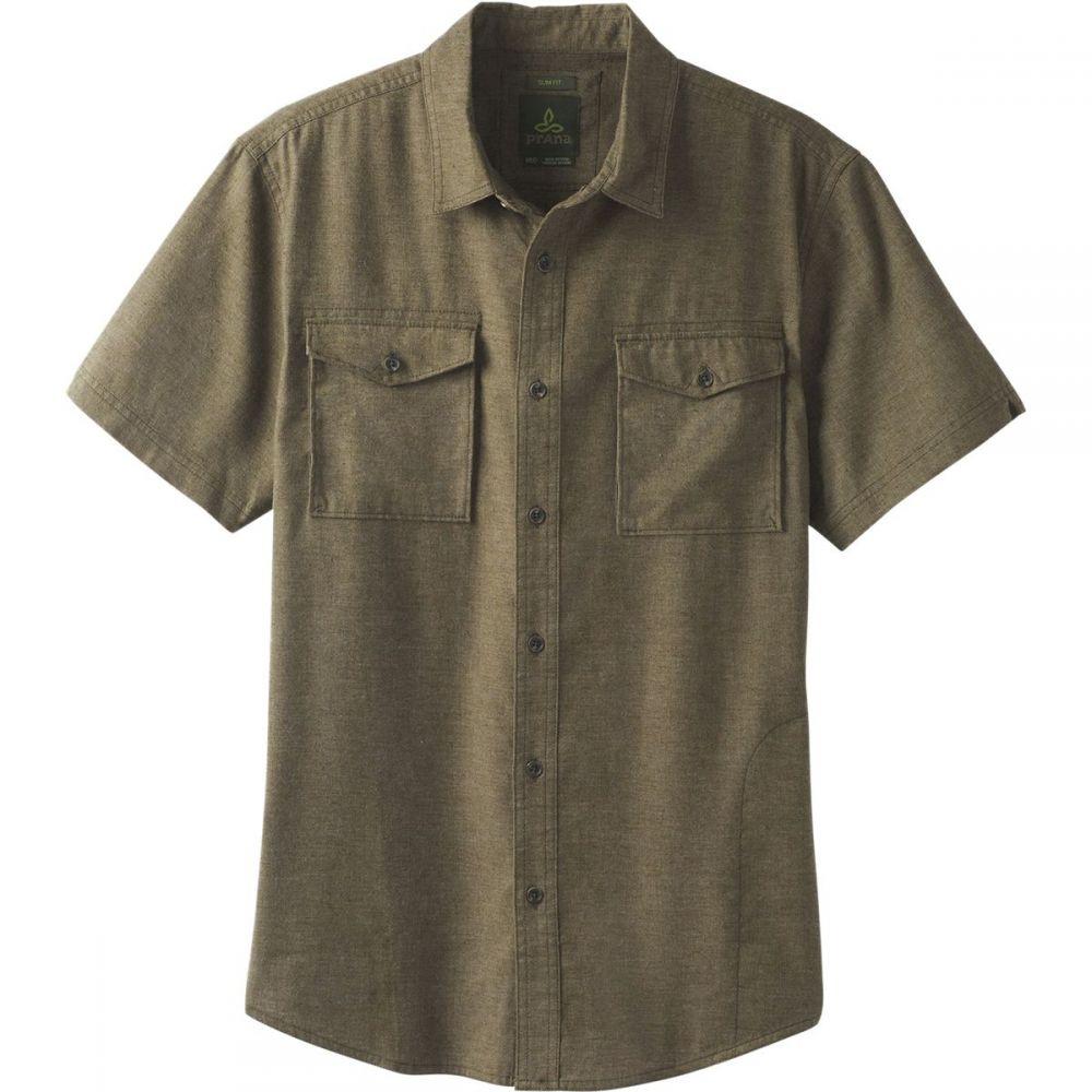 プラーナ Prana メンズ トップス 半袖シャツ【Merger Short - Sleeve Shirts】Cargo Green
