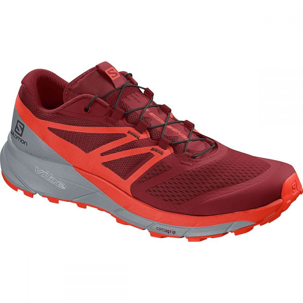 サロモン Salomon メンズ ランニング・ウォーキング シューズ・靴【Sense Ride 2 Trail Running Shoes】Red Dahlia/Cherry Tomato/Quarry
