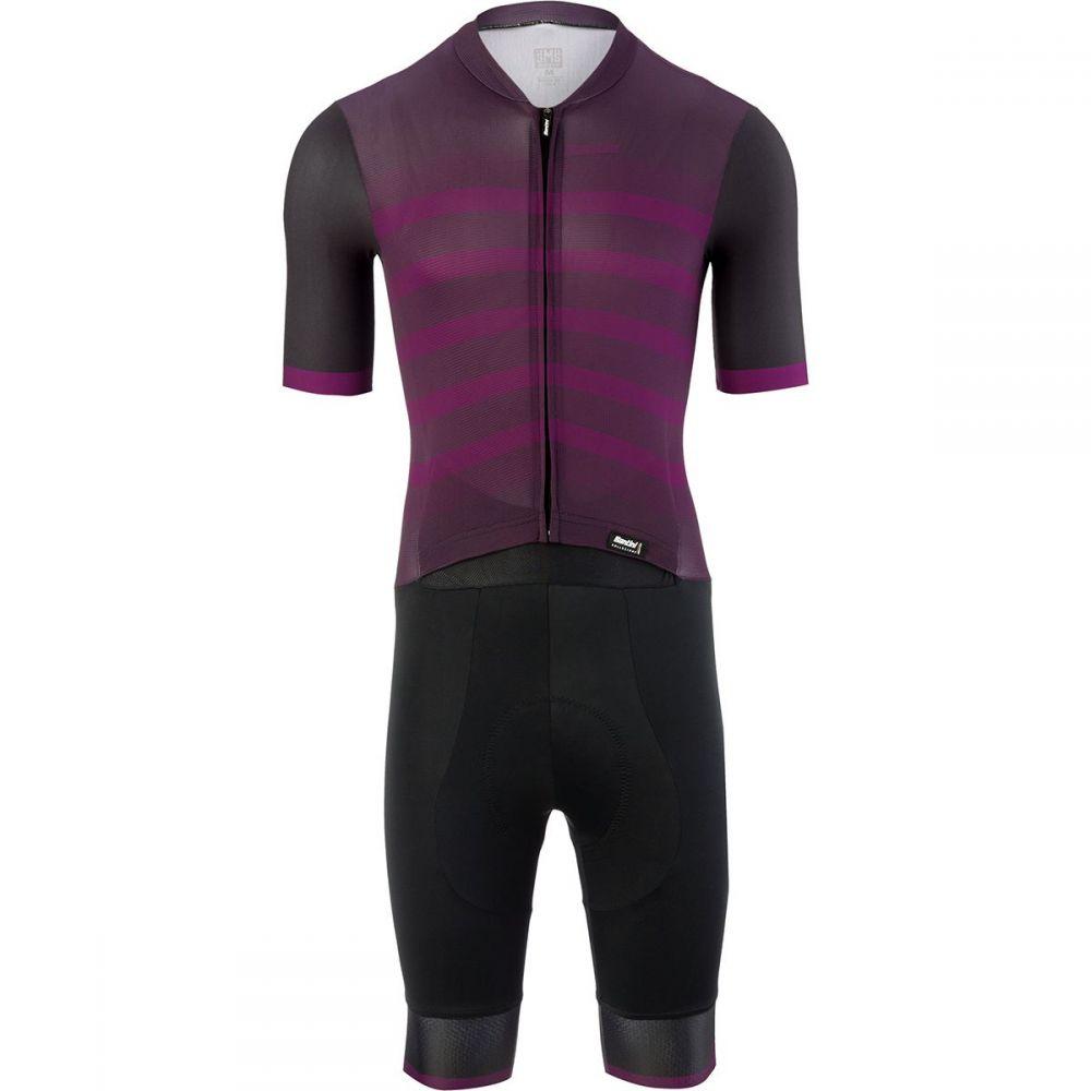 サンティーニ Santini メンズ トライアスロン トップス【Genio Road C3 Skinsuits】Bordeaux