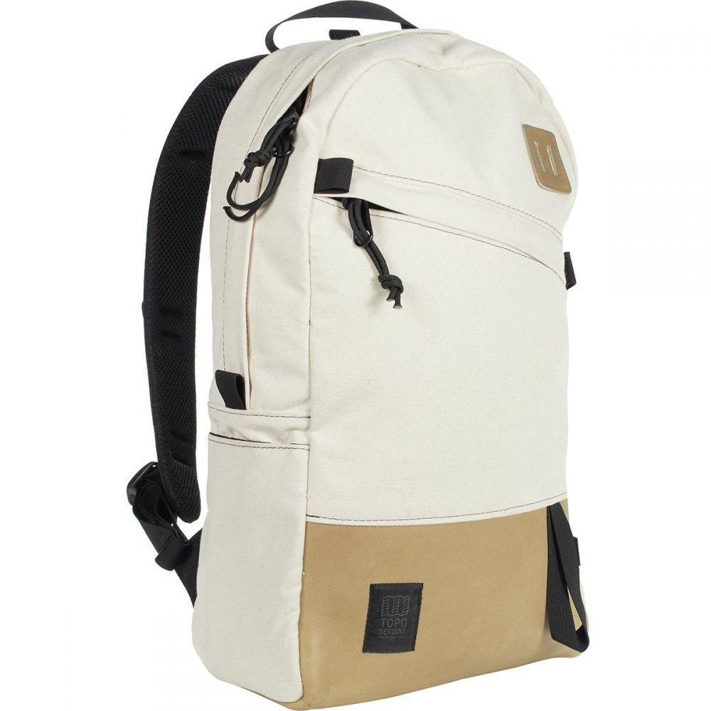トポ デザイン Topo Designs メンズ バッグ バックパック・リュック【Daypack 22L Backpack】Natural/Khaki Leather