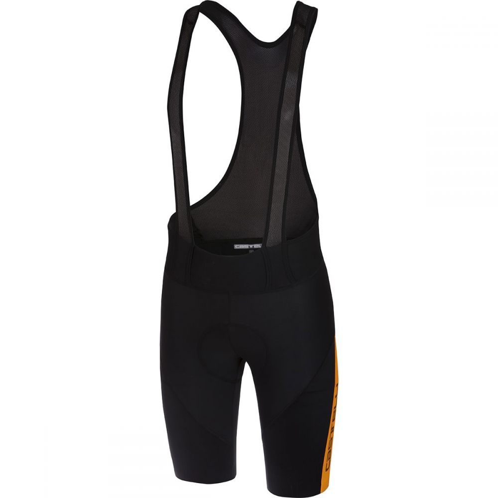 カステリ Castelli メンズ 自転車 ボトムス・パンツ【Velocissimo IV Bib Shorts】Black/Orange