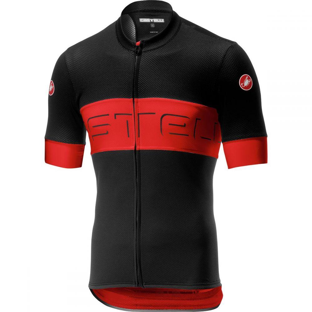 カステリ Castelli メンズ 自転車 トップス【Prologo VI Jerseys】Black/Red/Black
