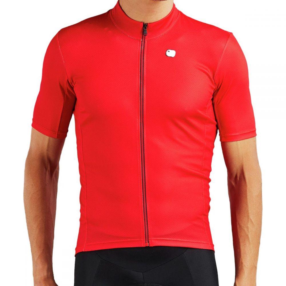 ジョルダーノ Giordana メンズ 自転車 トップス【Fusion Jerseys】Watermelon Red/Black